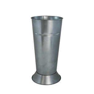 Galvanised flower pot with stand 23/45